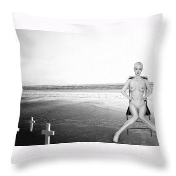 Physical Manifestations - Self Portrait Throw Pillow by Jaeda DeWalt