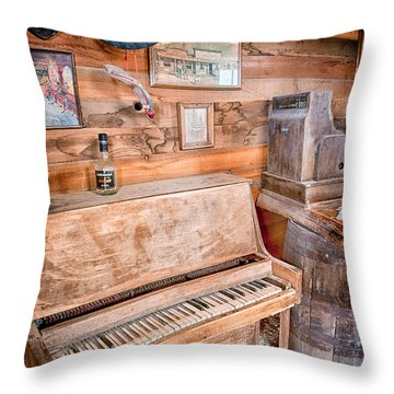 Piano Man Throw Pillow by Cat Connor
