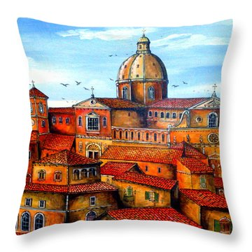 Piazza Armerina Sicily Throw Pillow by Roberto Gagliardi
