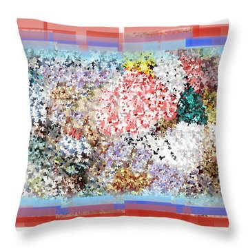 Pieces Of April Throw Pillow by Bill Cannon