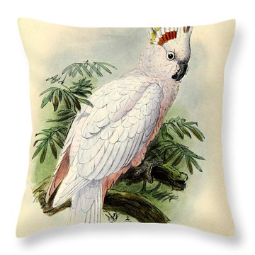 Pied Cockatoo Throw Pillow by J G Keulemans
