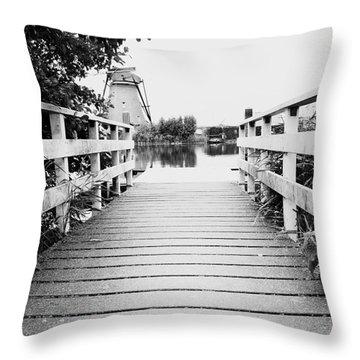 Pier At Kinderdjik Throw Pillow by Ivy Ho