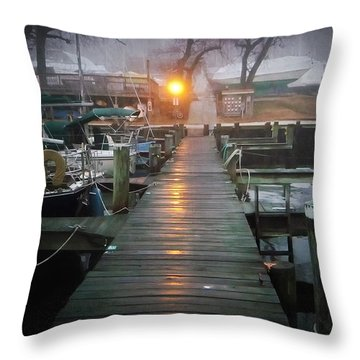 Pier Light Throw Pillow by Brian Wallace