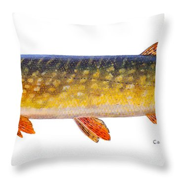 Pike Throw Pillow by Carey Chen