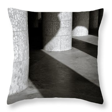 Pillars And Shadow Throw Pillow by Dave Bowman