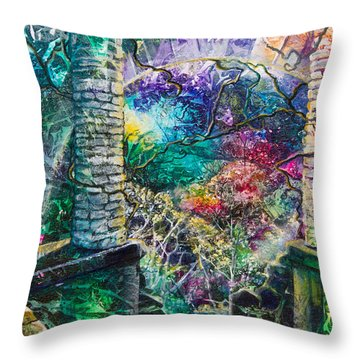 Pillars At The Edge Of The World Throw Pillow by Patricia Allingham Carlson