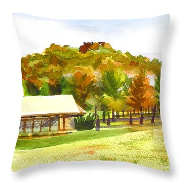 Pilot Knob Mountain 2 Throw Pillow by Kip DeVore