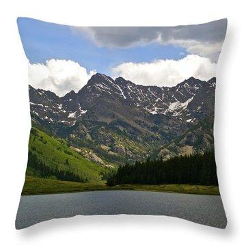 Piney Lake Vail Colorado Throw Pillow by Kristina Deane