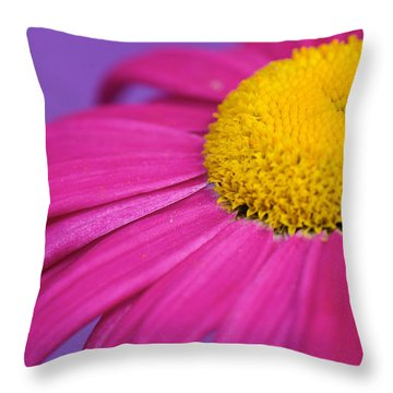 Pink And Purple Smile Throw Pillow by Lisa Knechtel