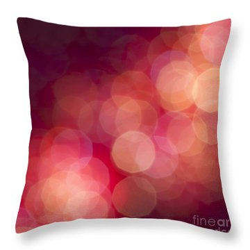 Pink Champagne Throw Pillow by Jan Bickerton