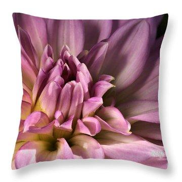 Pink Dahlia's Dream Throw Pillow by Joy Watson