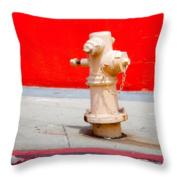 Pink Fire Hydrant Throw Pillow by Art Block Collections