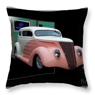 Pink Hot Rod 01 Throw Pillow by Thomas Woolworth