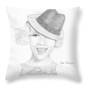 Pink Throw Pillow by M Valeriano
