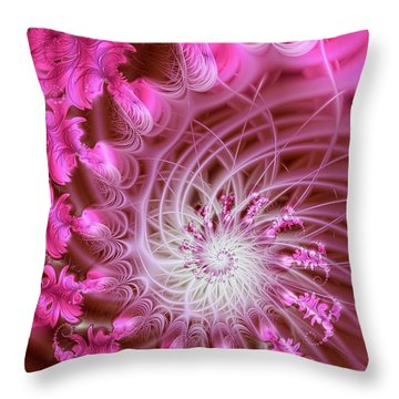 Pink Throw Pillow by Lena Auxier