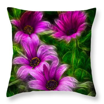 Pink  Throw Pillow by Stelios Kleanthous