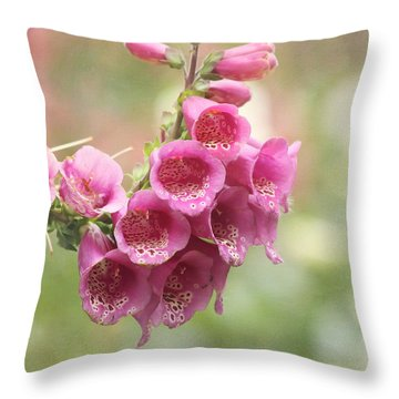 Pink Trumpet Throw Pillow by Kim Hojnacki