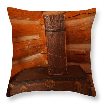 Pioneer Luggage Throw Pillow by Jeff Swan