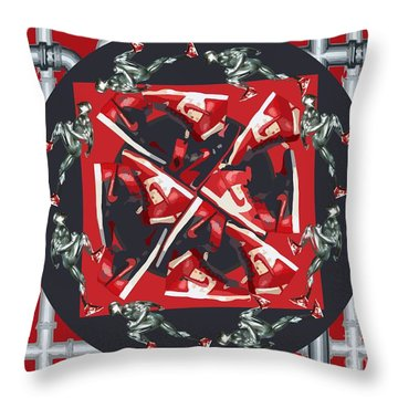 Pipes And Kicks Throw Pillow by Alfie Borg