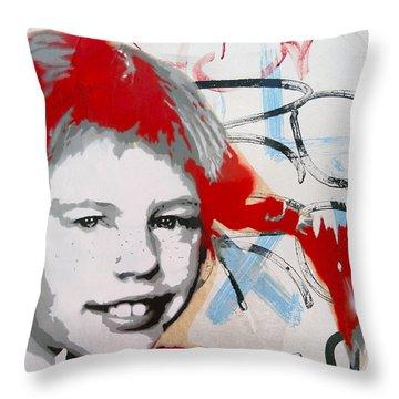 Pippi Longstocking  Throw Pillow by Juergen Weiss