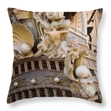 Pirate Ship 1 Throw Pillow by Douglas Barnett