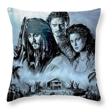 Pirates Throw Pillow by Andrew Read