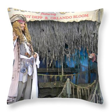 Pirates Of The Caribbean Throw Pillow by Spirit Baker