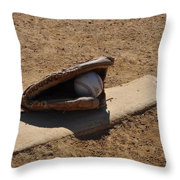 Pitchers Mound Throw Pillow by Bill Cannon