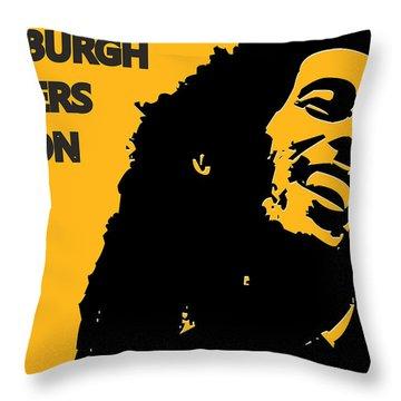Pittsburgh Steelers Ya Mon Throw Pillow by Joe Hamilton
