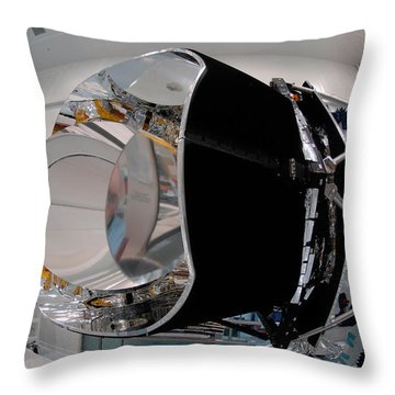 Throw Pillow featuring the photograph Planck Space Observatory Before Launch by Science Source