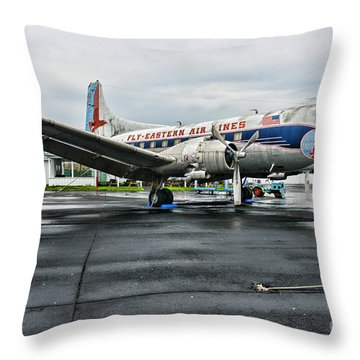Plane On The Tarmac Throw Pillow by Paul Ward