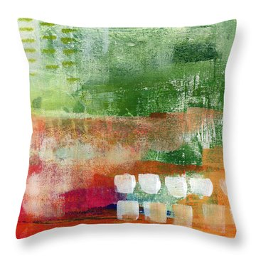 Plantation- Abstract Art Throw Pillow by Linda Woods