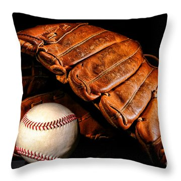 Play Ball Throw Pillow by Olivier Le Queinec