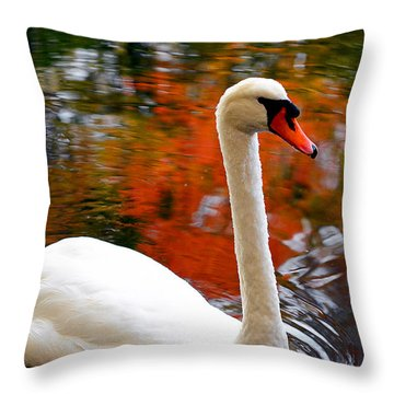 Pleasant Welcome Throw Pillow by Lourry Legarde