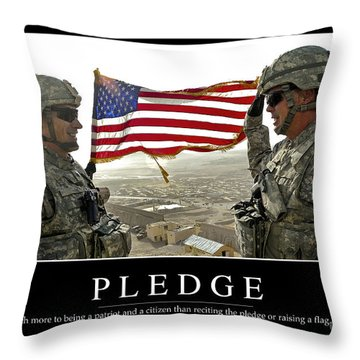 Pledge Inspirational Quote Throw Pillow by Stocktrek Images