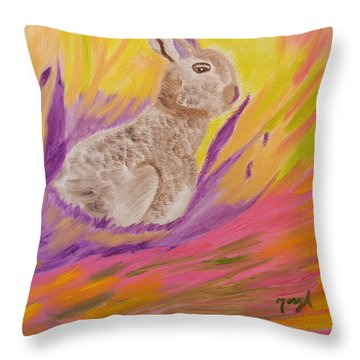 Plunge Into Your Painting Throw Pillow by Meryl Goudey
