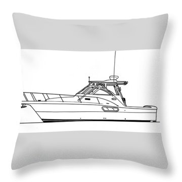 Pocket Yacht Profile Throw Pillow by Jack Pumphrey