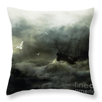 Point Danger Throw Pillow by Shanina Conway