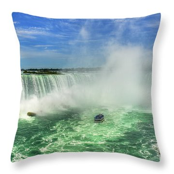 Point Of Land Cut In Two.. Throw Pillow by Nina Stavlund