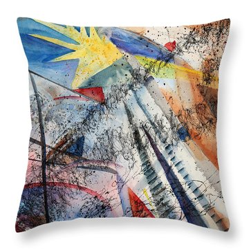 Point Of View Throw Pillow by Mary Benke
