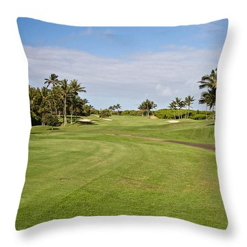 Poipu Bay #1 Throw Pillow by Scott Pellegrin
