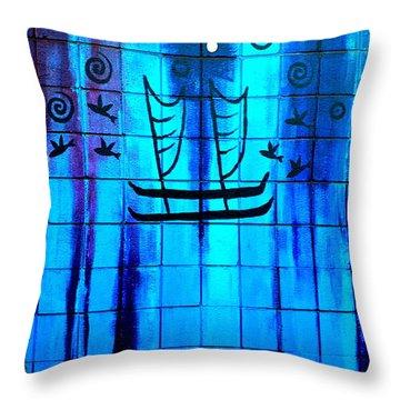 Polynesian Graffiti  Throw Pillow by Karon Melillo DeVega