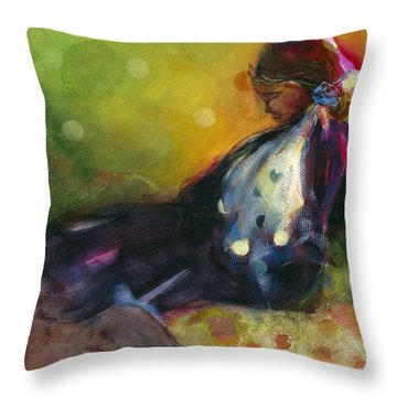 Pondering The Cosmos Throw Pillow by Jen Norton
