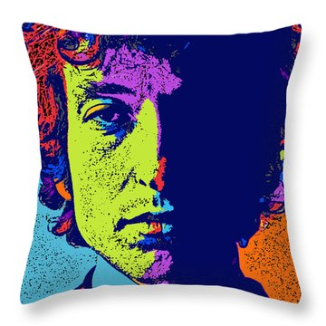 Pop Art Dylan Throw Pillow by David G Paul