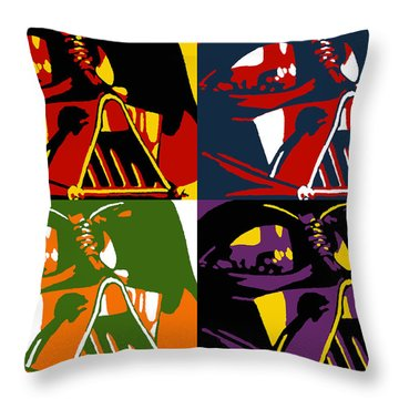 Pop Art Vader Throw Pillow by Dale Loos Jr