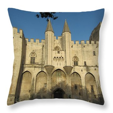 Popes Palace In Avignon Throw Pillow by Pema Hou