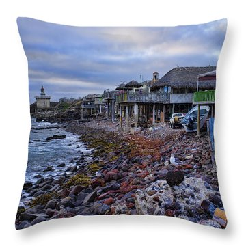 Popotla Baja California Throw Pillow by Hugh Smith