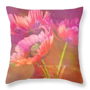 Poppy Passion Throw Pillow by Jan Bickerton