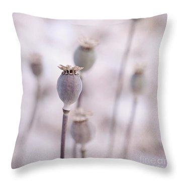 Poppy Queens Throw Pillow by Priska Wettstein