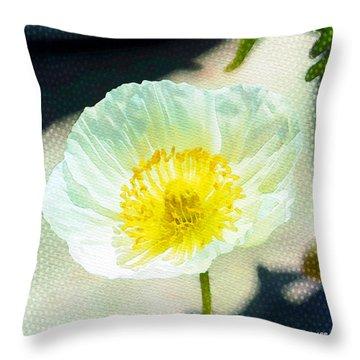Poppy Series - Beside The Sidewalk Throw Pillow by Moon Stumpp